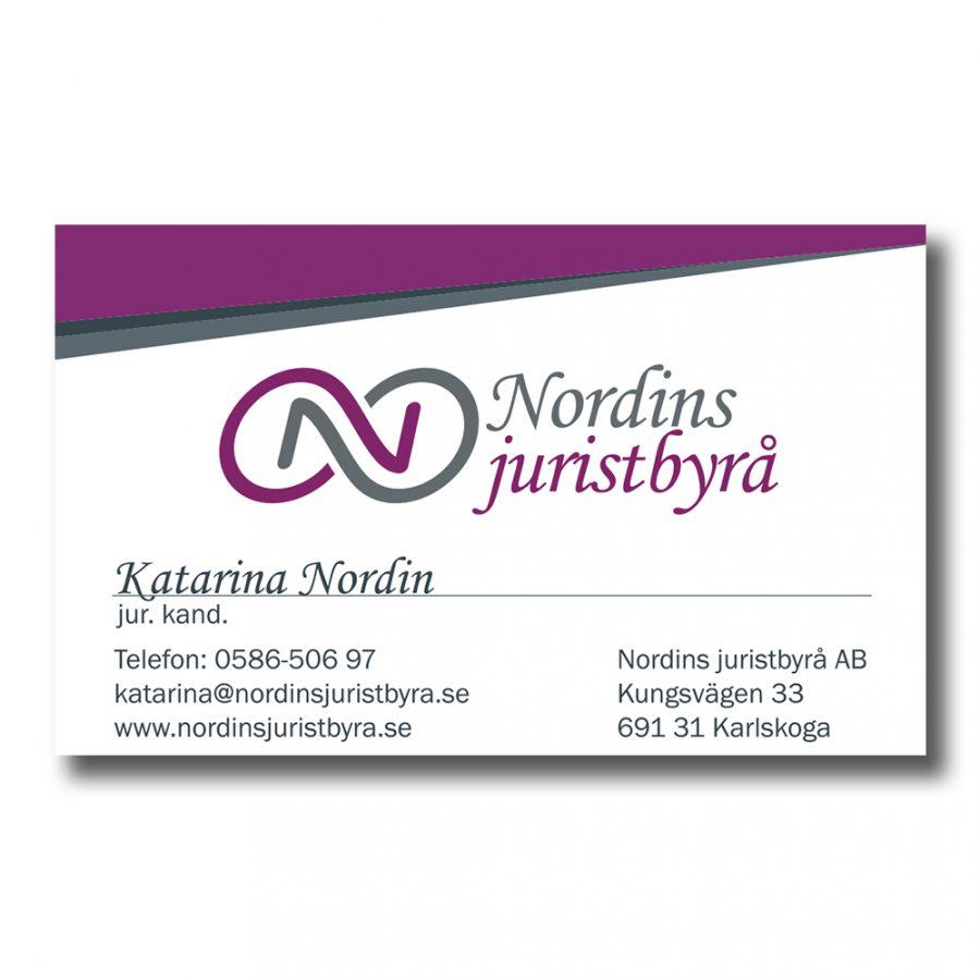 Nordins-visitkort