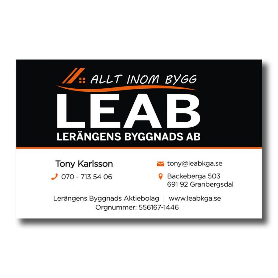 Visitkort-Leab
